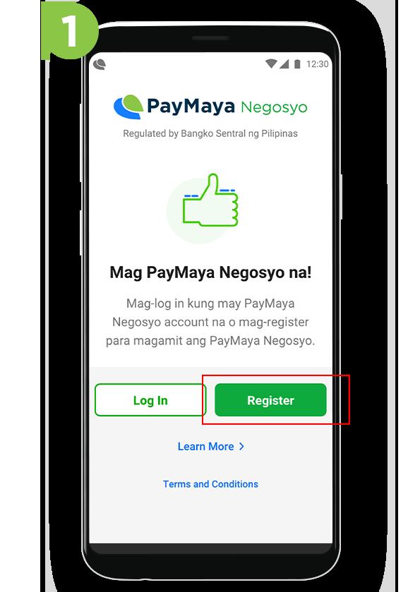 Paymaya Negosyo Merchant - STEP 1
