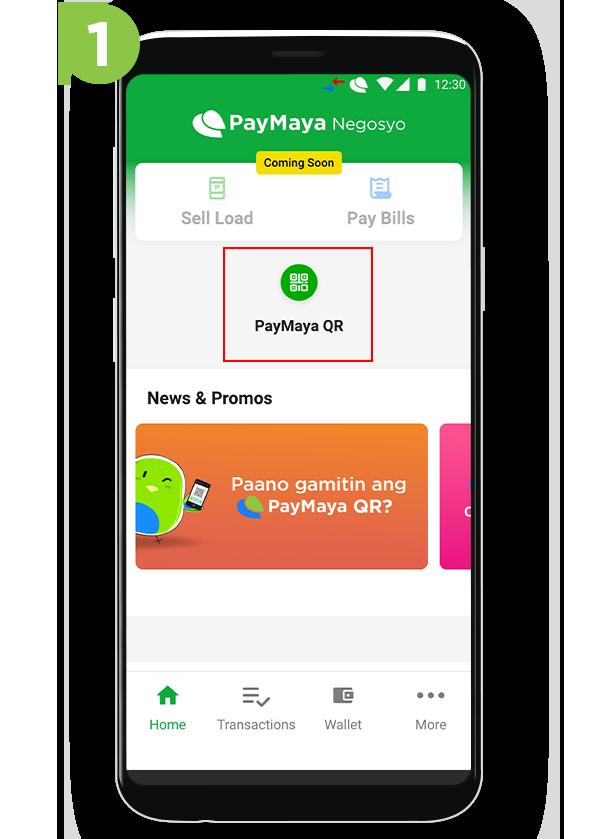 PayMaya Negosyo QR - Step 1